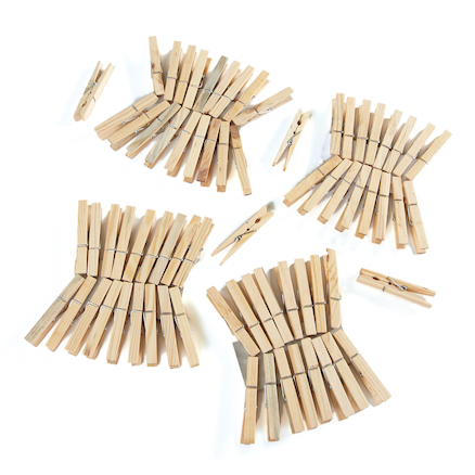 Wooden Clothes Pegs 72pk  large
