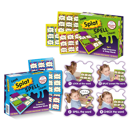 Look, Splat, Spell, Check Board Games  large