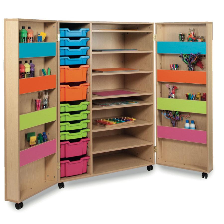 art storage cupboard ideal for schools free delivery tts. Black Bedroom Furniture Sets. Home Design Ideas