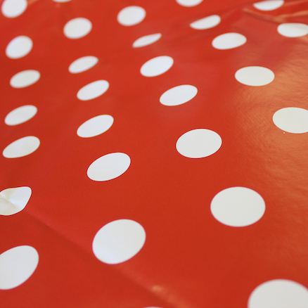 PVC Dotty Wipe Clean Tablecover  large