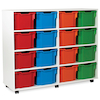 White Tray Storage Unit With 16 Extra Deep Trays  small