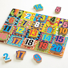 Wooden Number Board 1-20 Jigsaw Puzzle  small