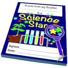 Science Reward Notepads 4pk  medium