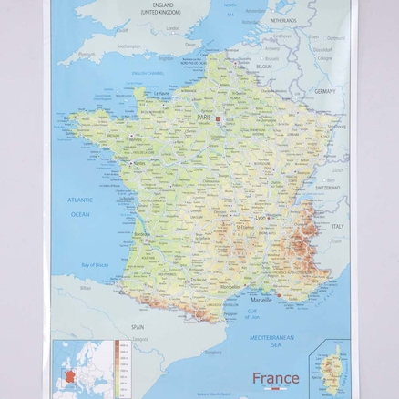 France Map A1  large