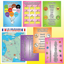 French Vocabulary A3 Posters 7pk  medium