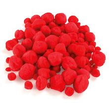 Red Pom Poms Assorted 100pk  medium