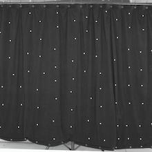 Light Up Stars Music Performance Backdrop Curtain  medium