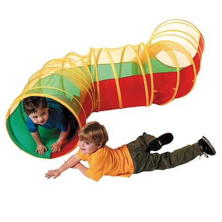 Zig Zag See Through Play Tunnel L2.8m  large