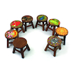 Wooden Stools 8pk  small