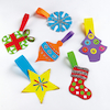 Primary Christmas Tree Hangers Assorted 36pk  small
