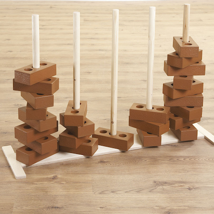 Wooden Brick Stand for Stacking  large