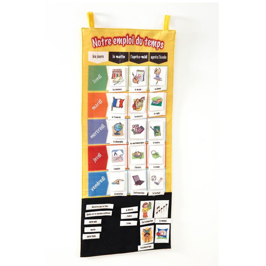 Wall Hanging Lesson Plan: Buy French School Timetable Vocabulary Wall Hanging