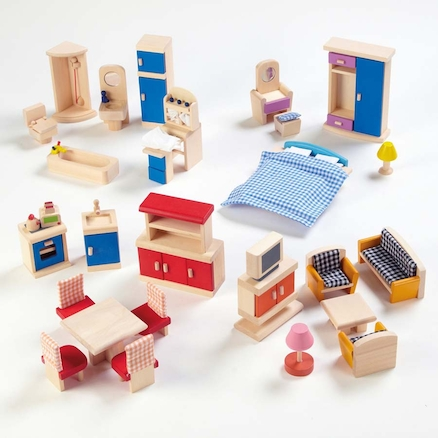 Small World Dolls House Rooms Furniture Set  large
