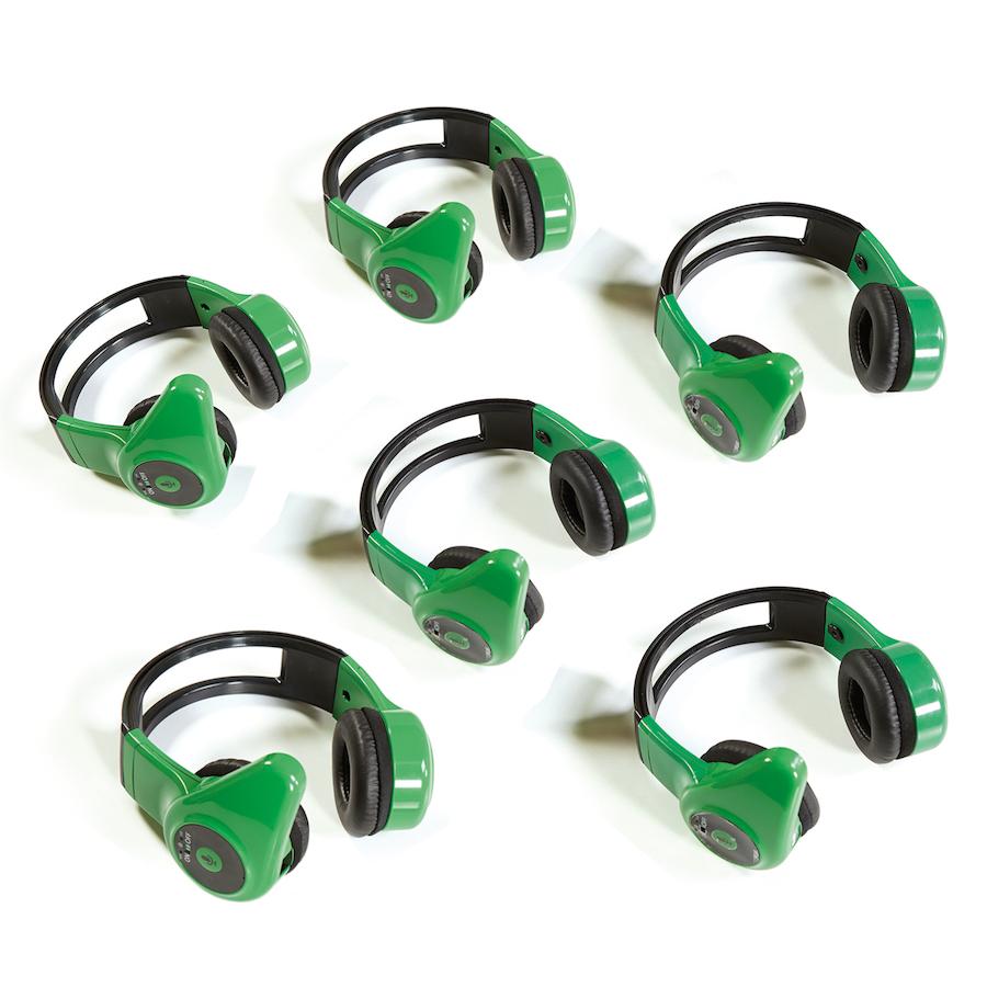 buy hands free walkie talkie headsets 6pk tts. Black Bedroom Furniture Sets. Home Design Ideas