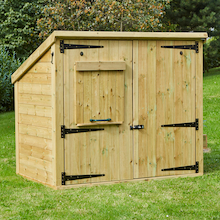 Outdoor Wooden Storage and Planting House   medium