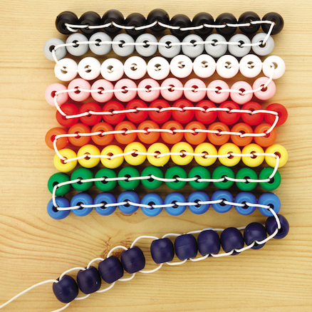 Sum thing Rainbow 100 Bead Counting String  large