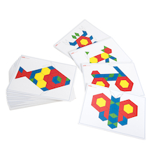 Basic Pattern Block Cards  medium