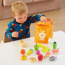 Role Play Fruit & Vegetables Wooden Food and Bag  medium