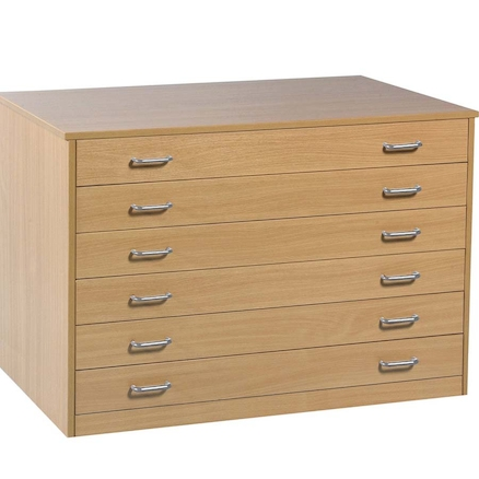 Paper Storage Six Drawer Unit  large