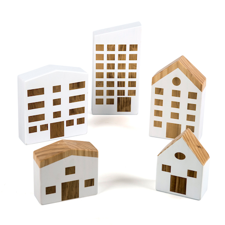Tiny Town Wooden Houses  large