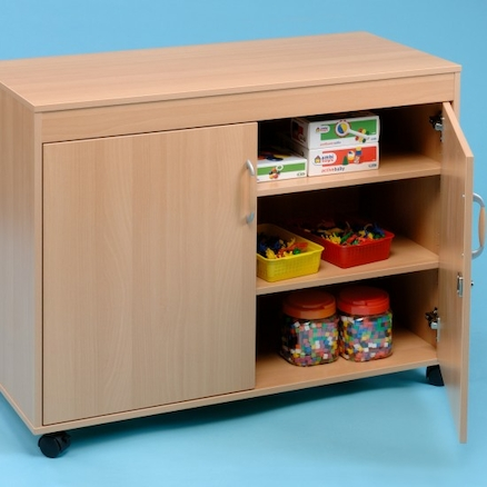 Small Beech Storage Cupboard  large