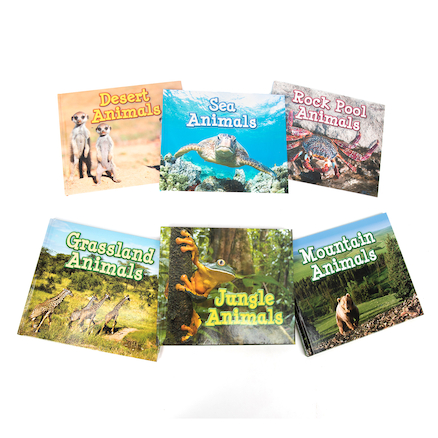 Animals In Their Habitats Books 6pk  large