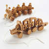 Wooden Pull Along Animals 2pk  small