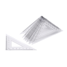 Clear Plastic 45 Degree Set Square 30pk  medium