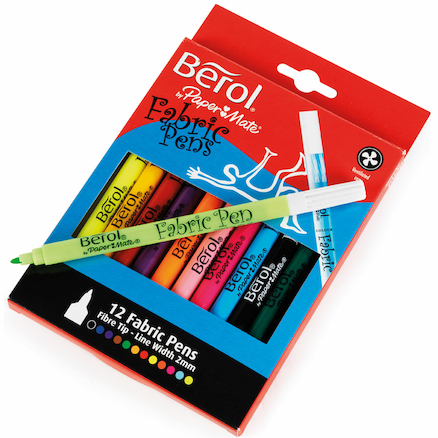 Berol Assorted Fabric Pens 12pk  large