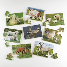 Animals and Their Young Jigsaw Puzzles 8pk  medium