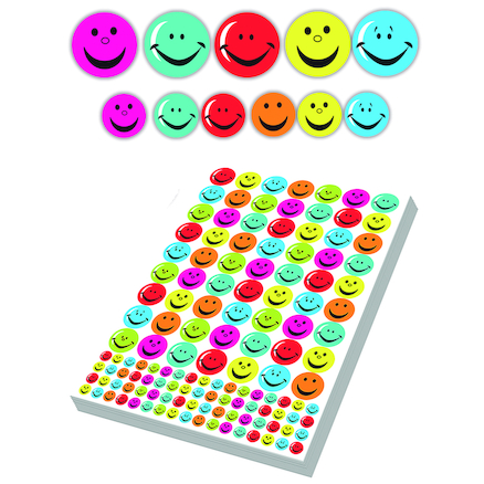 Assorted Smiley Face Stickers 3930pk  large