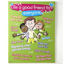 Golden Rules to Making Friends Sign  medium