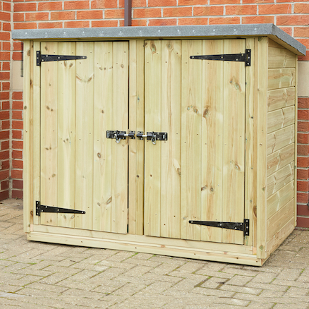 Outdoor Wooden Lockable Storage Cubby  large