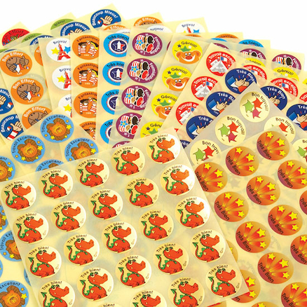French Reward Assorted Stickers 375pk  large