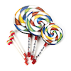 Hand Drums and Beaters Candy Design 5pk  small
