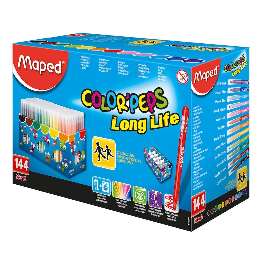 Buy Maped Color Peps Assorted Medium Felt Tip Pens Tts