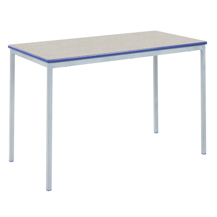 Fully Welded Tables Coloured Edge Rectangular  large