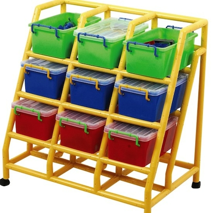Rainbow 9 Bin Mobile Storage Unit  large