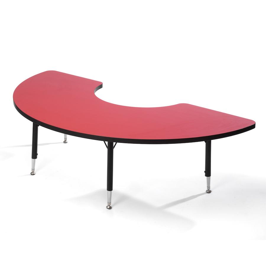 Superb Height Adjustable Arc Classroom Table