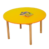 Height Adjustable Round Wooden Classroom Tables  small