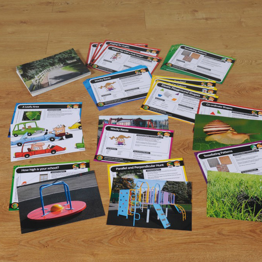 Buy Outdoor Maths Problem Solving Cards Tts
