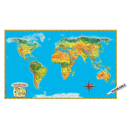 Environmental World Map A1  large