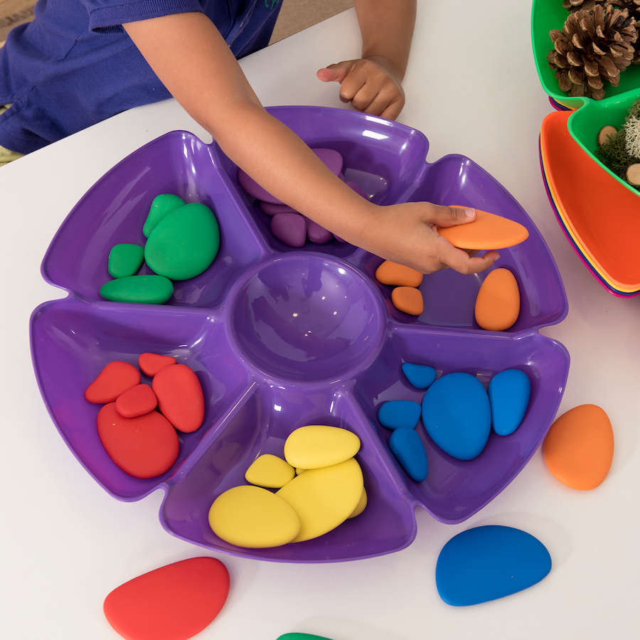 Buy Assorted Colours Flower Sorting And Paint Trays Tts