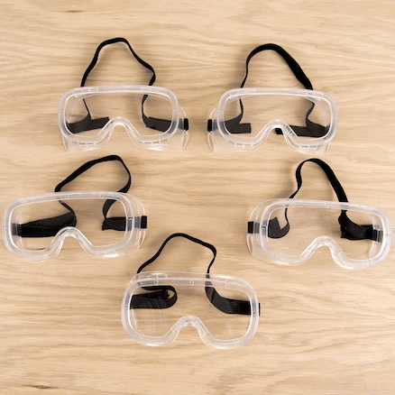Safety Goggles 5pk  large
