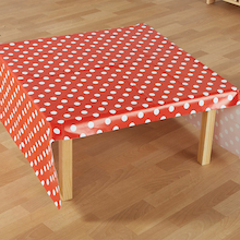 PVC Dotty Wipe Clean Tablecover  medium