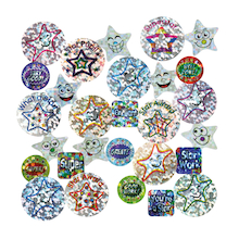 Assorted Sparkly Reward Stickers 3435pk  medium