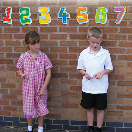 3D Numbers Playground Sign  large