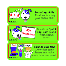 Reading Target Stickers Years 1 to 6  medium