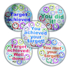 Sparkly Target Stickers 125pk  small