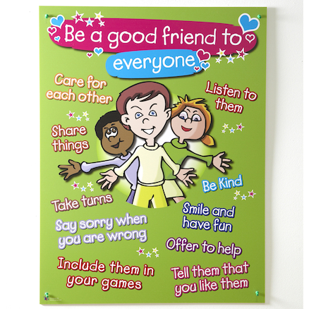 Golden Rules to Making Friends Sign  large